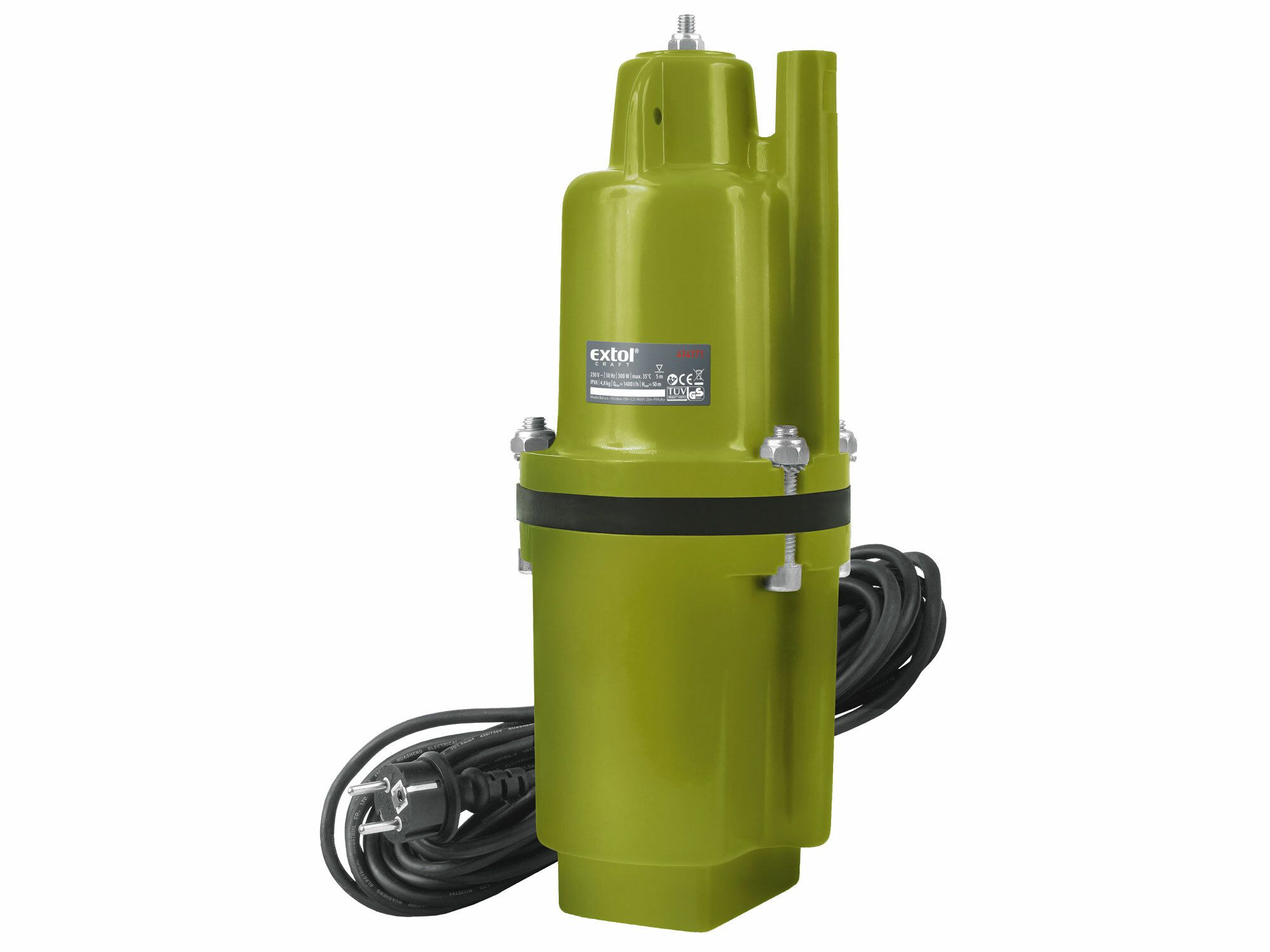 Čerpadlo membránové hlubinné ponorné, 300W, 1400l/hod, 20m, EXTOL CRAFT, 414171