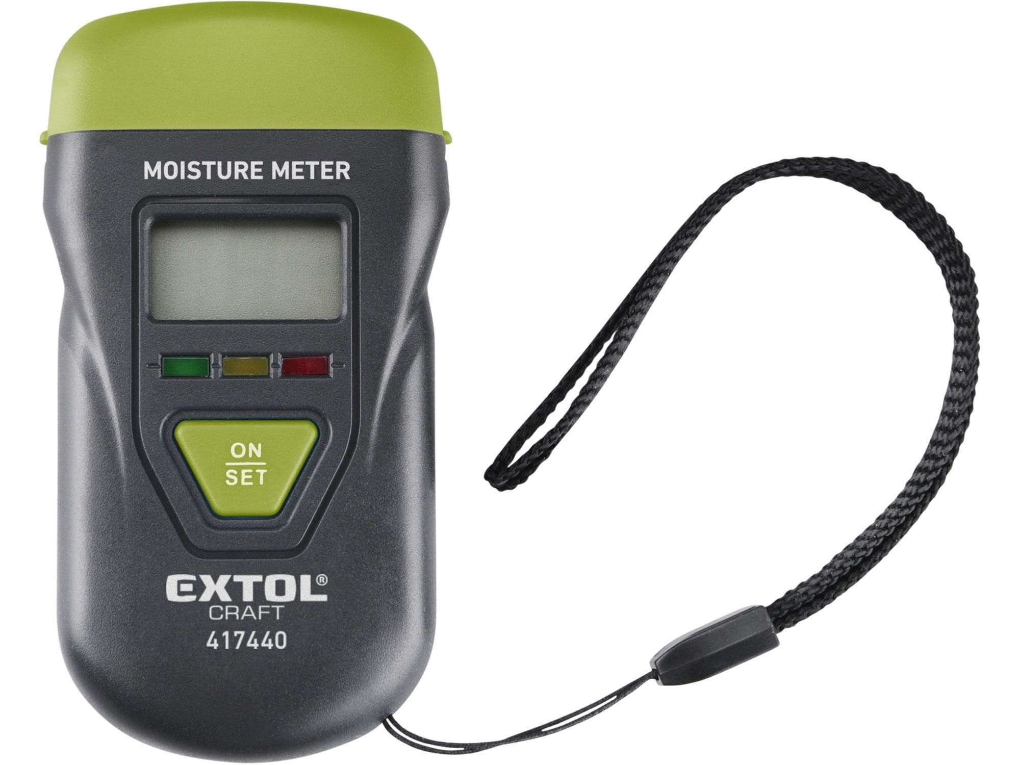 Vlhkoměr pro měření vlhkosti dřeva, omítky a podobných materiálů EXTOL-CRAFT