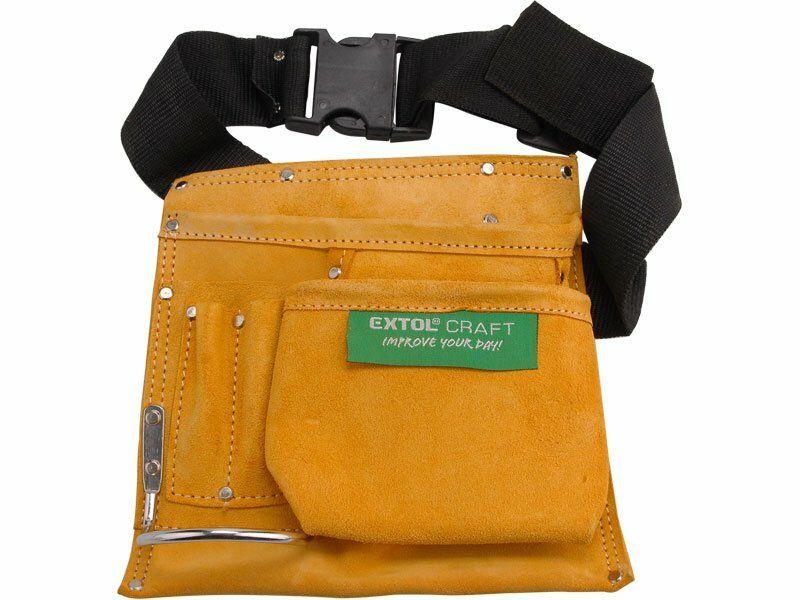 Pás na nářadí kožený bez opasku, 3 kapsy EXTOL-CRAFT