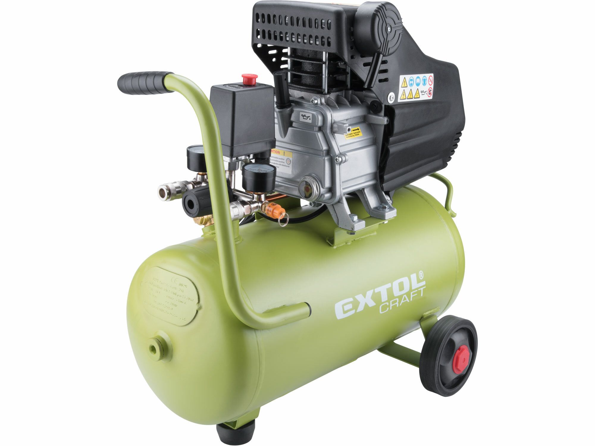EXTOL CRAFT 418201 kompresor olejový, 1,5kW, 24l
