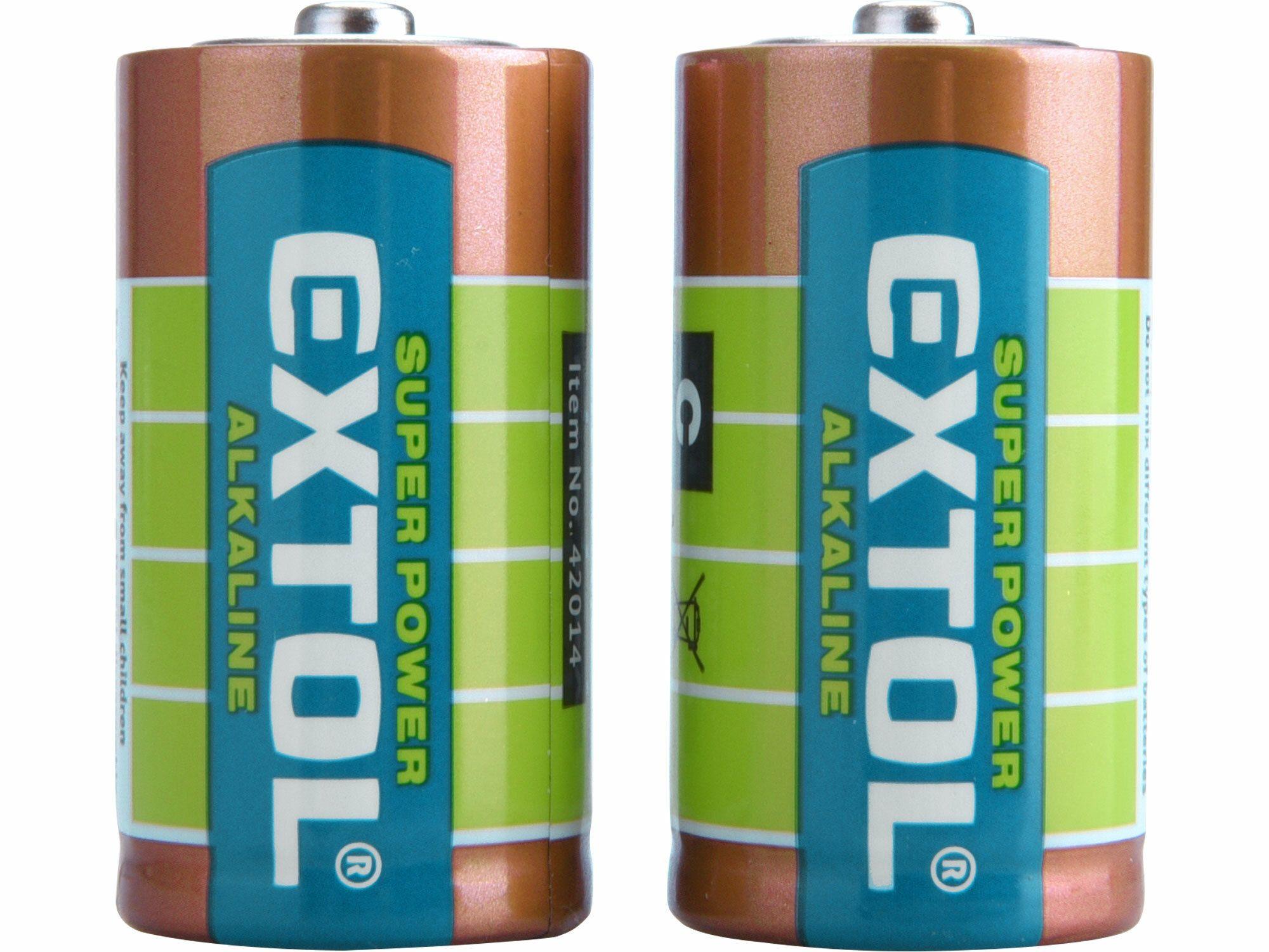 Baterie alkalické, 2ks, 1,5V C (LR14) EXTOL-LIGHT