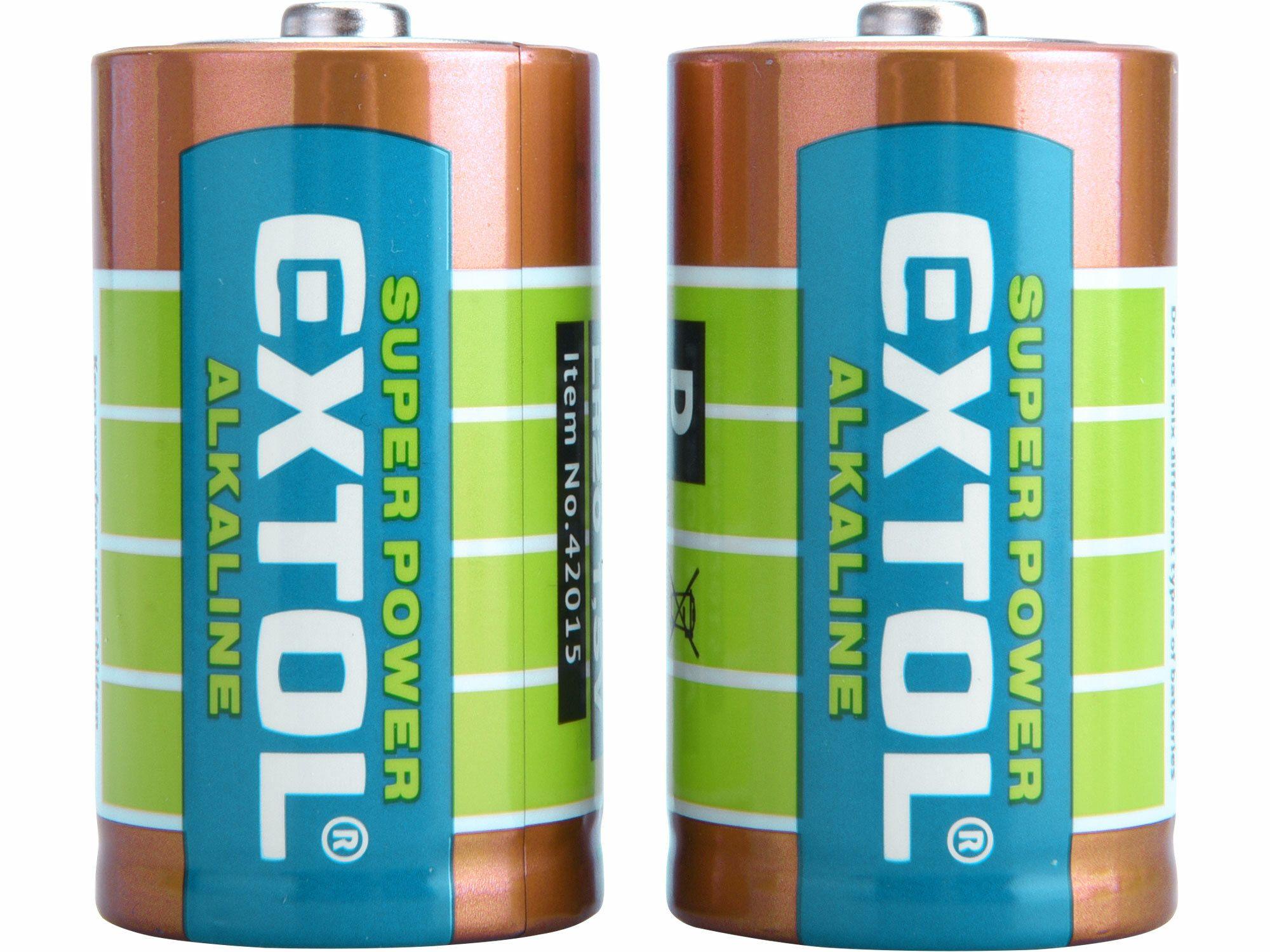 Baterie alkalické, 2ks, 1,5V D (LR20) EXTOL-ENERGY
