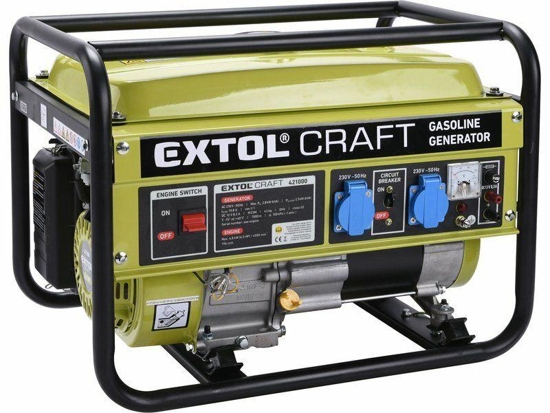 Elektrocentrála benzínová, 6,5HP/2,8kW EXTOL-CRAFT