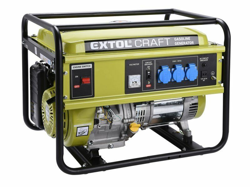 Elektrocentrála benzínová, 13HP/5,5kW, EXTOL CRAFT, 421010