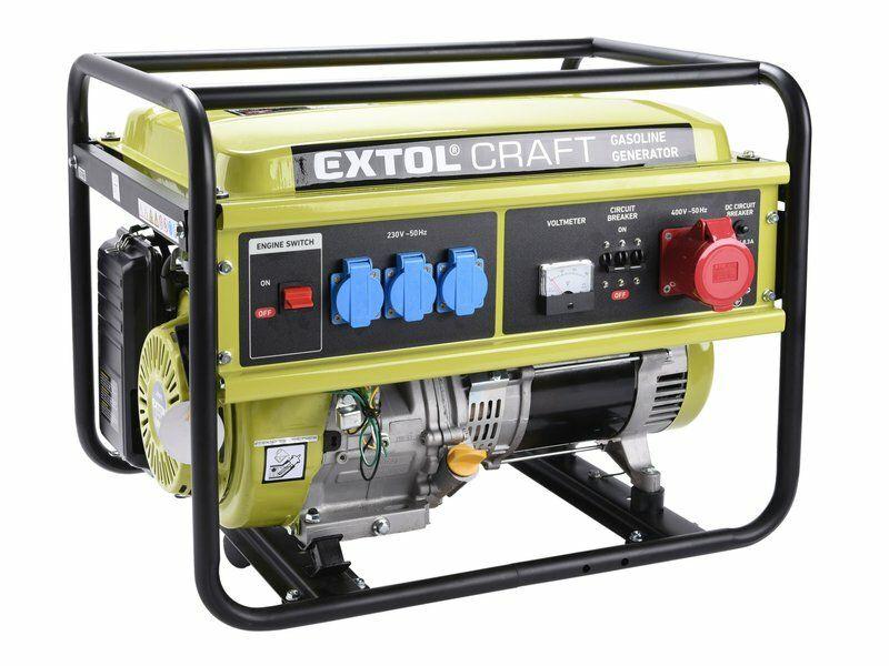 Elektrocentrála benzínová, 13HP/5,5kW (400V) 3x1,8kW (230V) EXTOL-CRAFT