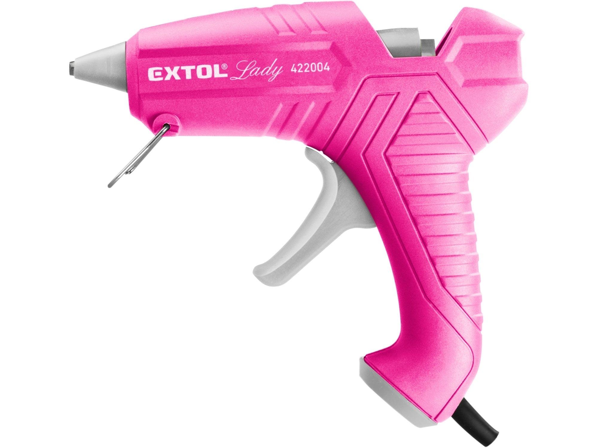 Pistole tavná lepící, Ř11mm, 40W, růžová EXTOL LADY