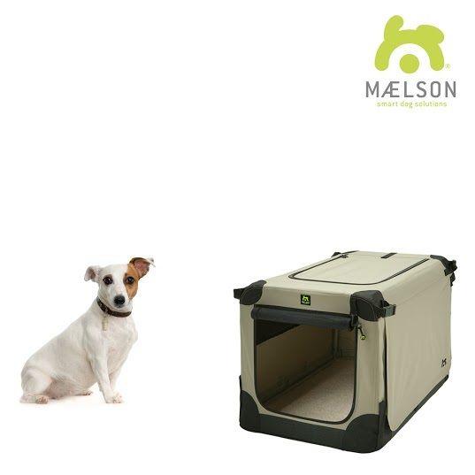 Maelson Soft Kennel Nylonová přepravka černo-béžová S 62x41x41