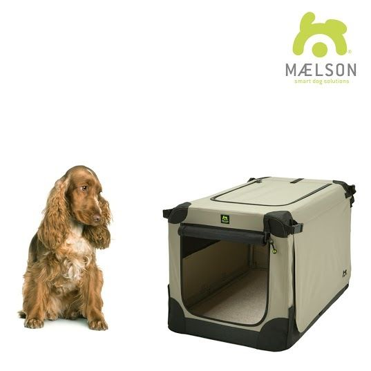 Maelson Soft Kennel Nylonová přepravka černo-béžová M 72x51x51