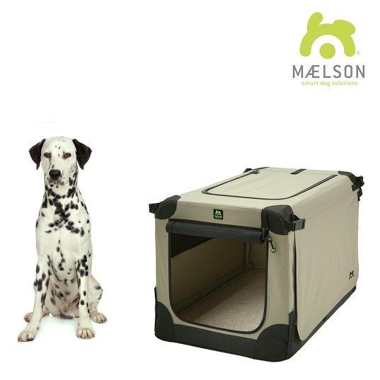 Maelson Soft Kennel Nylonová přepravka černo-béžová L 82x59x59