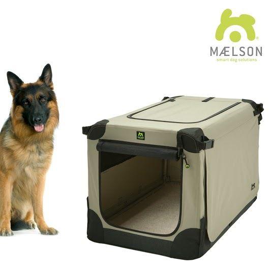 Maelson Soft Kennel Nylonová přepravka černo-béžová XXL 105x72x81