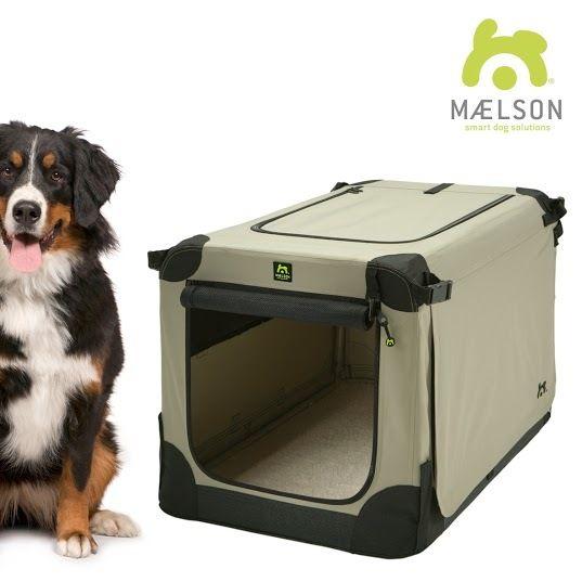 Maelson Soft Kennel Nylonová přepravka černo-béžová XXXL 120x77x86