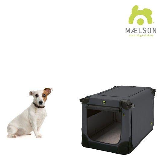 Maelson Soft Kennel Nylonová přepravka černo-antracitová S 62x41x41