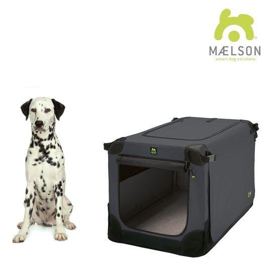Maelson Soft Kennel Nylonová přepravka černo-antracitová L 82x59x59