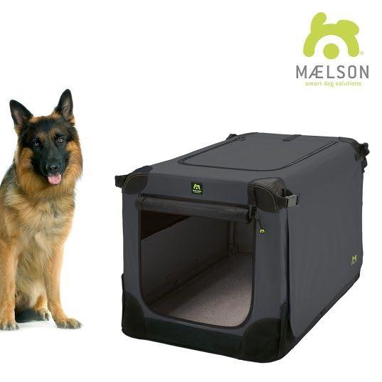 Maelson Soft Kennel Nylonová přepravka černo-antracitová XXL 105x72x81