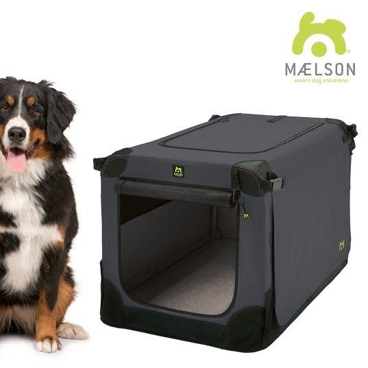 Maelson Soft Kennel Nylonová přepravka černo-antracitová XXXL 120x77x86