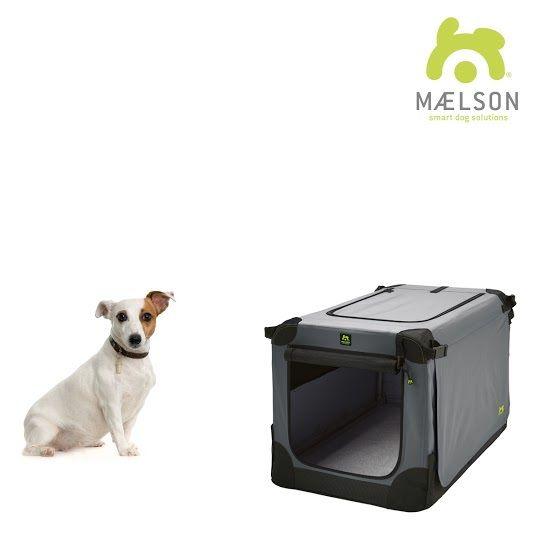Maelson Soft Kennel Nylonová přepravka černo-šedá S 62x41x41