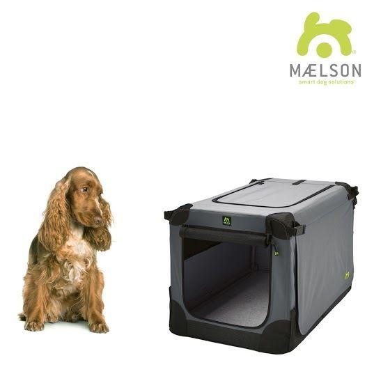 Maelson Soft Kennel Nylonová přepravka černo-šedá M 72x51x51