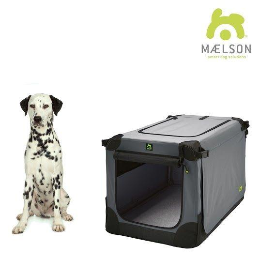 Maelson Soft Kennel Nylonová přepravka černo-šedá L 82x59x59