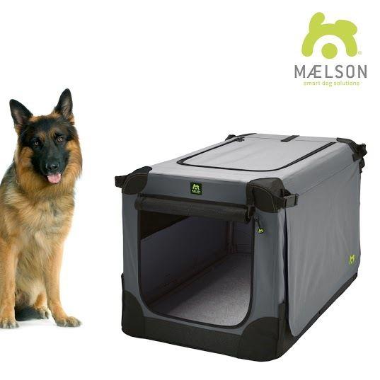 Maelson Soft Kennel Nylonová přepravka černo-šedá XXL 105x72x81