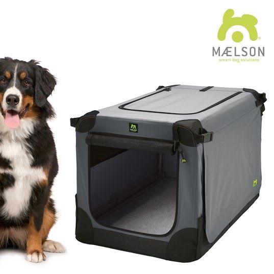 Maelson Soft Kennel Nylonová přepravka černo-šedá XXXL 120x77x86
