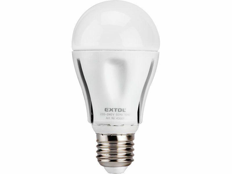 Žárovka LED, 8W, závit E27, svítivost 640lm (odpovídá 50W klasické žárovky), EXTOL LIGHT