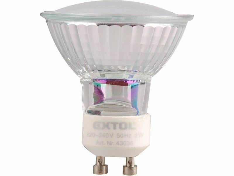 Žárovka LED, 3W, závit GU10, svítivost 280lm, barva světla 4500K neutr. bílá, EXTOL LIGHT