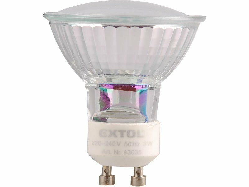Žárovka LED, 3W, závit GU10, svítivost 280lm, barva světla 4500K neutr. bílá EXTOL-LIGHT