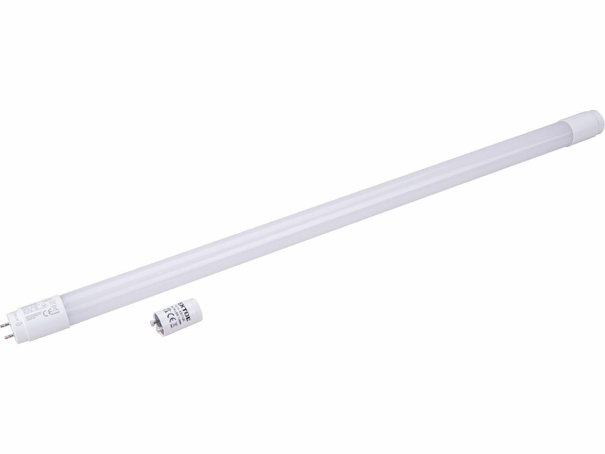 Zářivka LED, 60cm, 900lm, T8, neutrální bílá, PC + ALU EXTOL-LIGHT