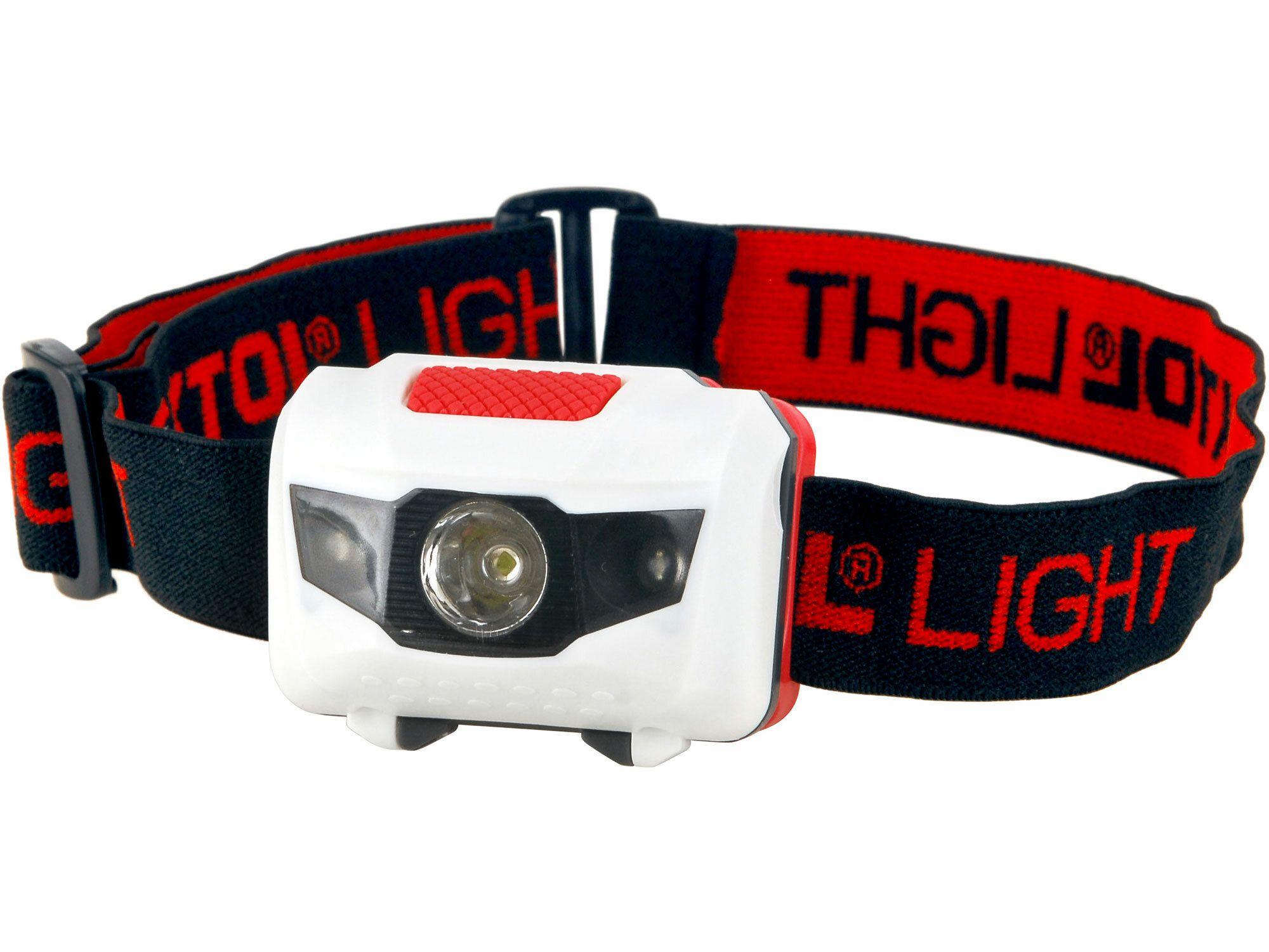 Čelovka 1W + 2LED, 4módy světla: 100%, 50%, červené LED, červ. LED blikání, EXTOL LIGHT 43102