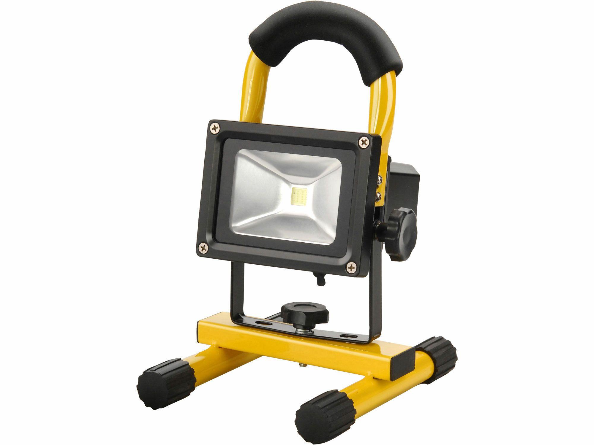 Reflektor LED 10W, nabíjecí, s podstavcem, 10W, 800lm, denní světlo, IP65, Li-ion EXTOL-LIGHT