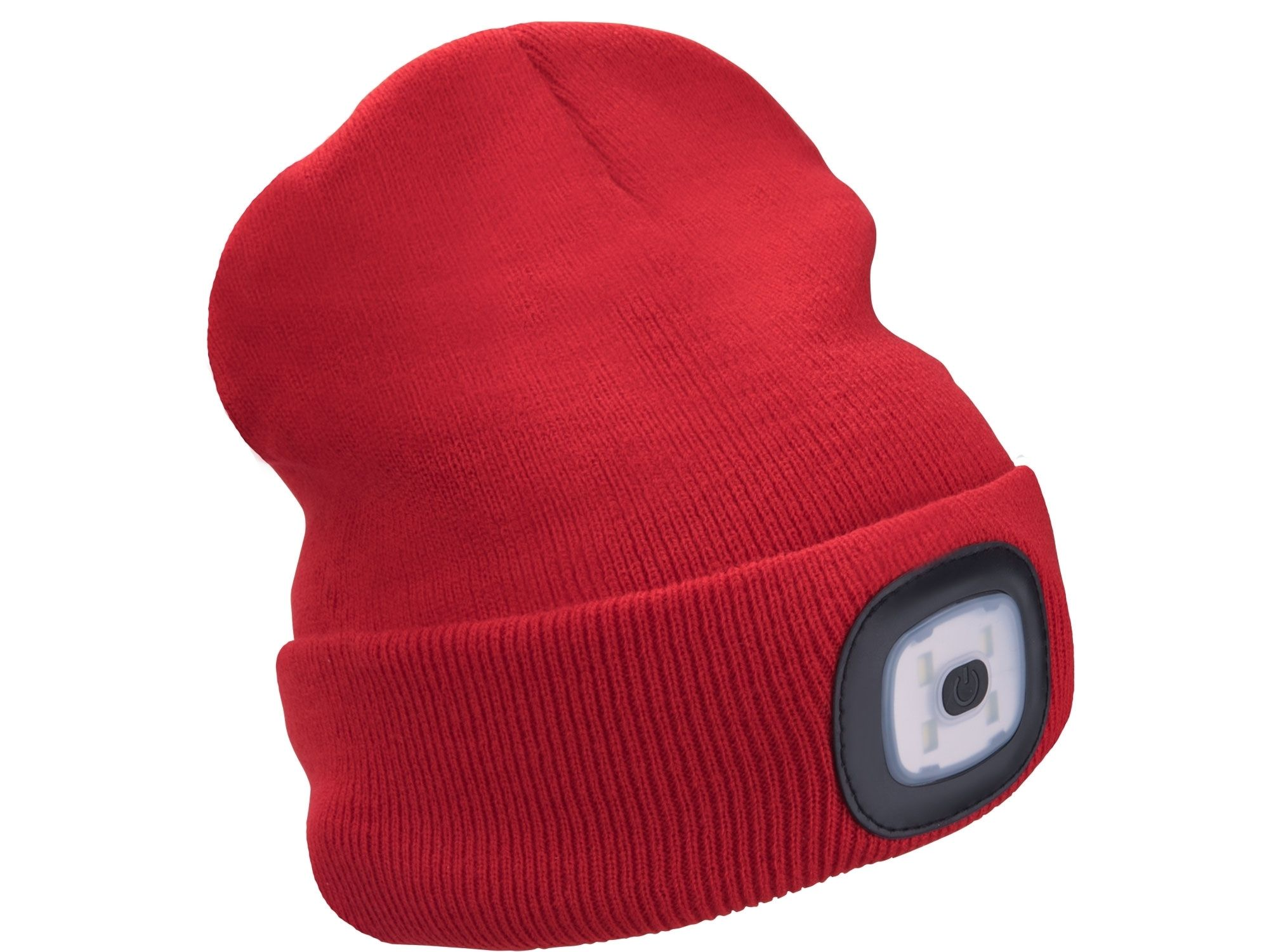 Čepice s čelovkou 4x45lm, USB nabíjení, červená, univerzální velikost EXTOL-LIGHT