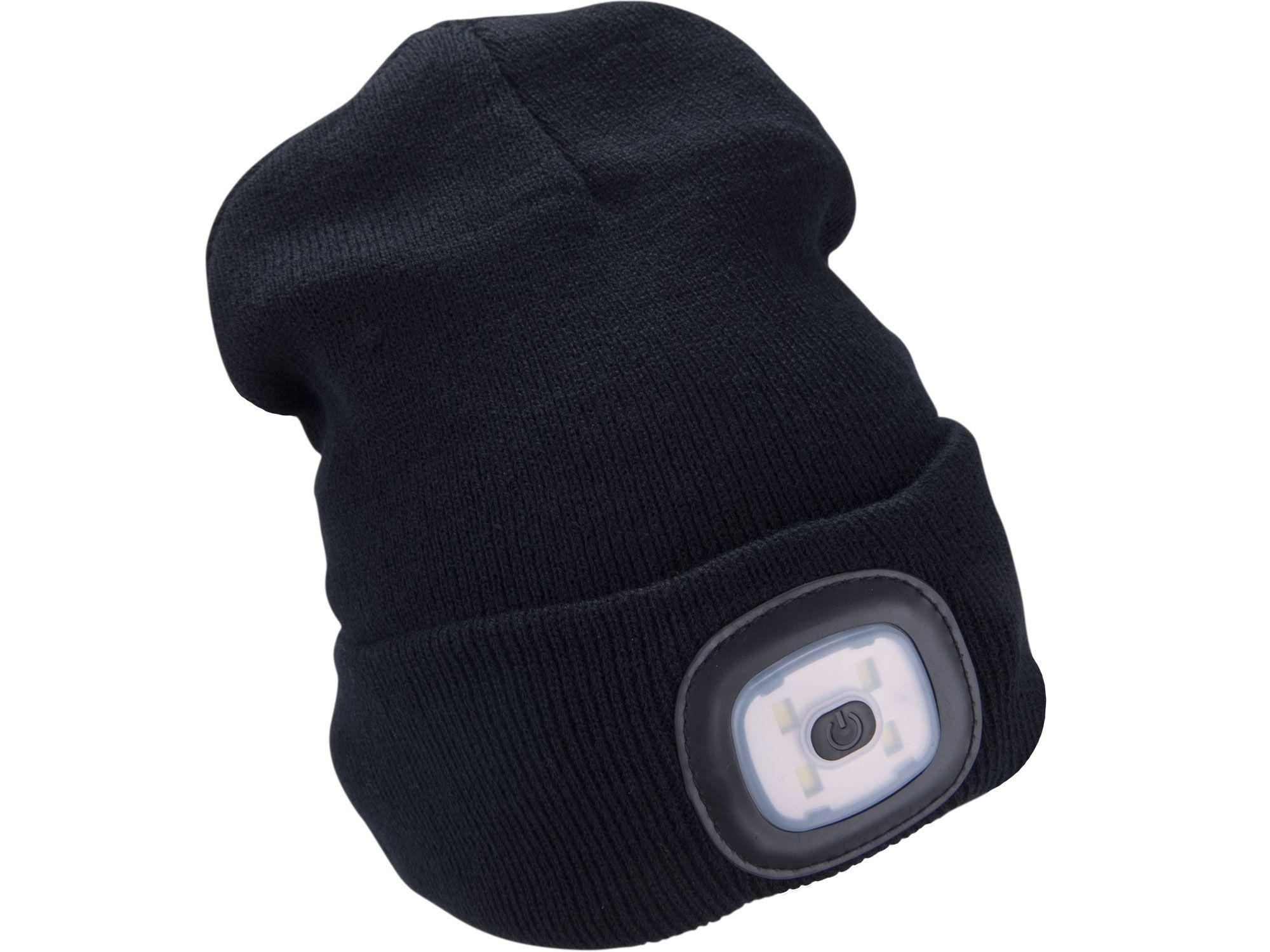 Čepice s čelovkou 4x45lm, USB nabíjení, černá, univerzální velikost EXTOL-LIGHT