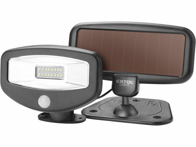 Reflektor LED s pohybovým čidlem, 100lm, solární nabíjení EXTOL-LIGHT