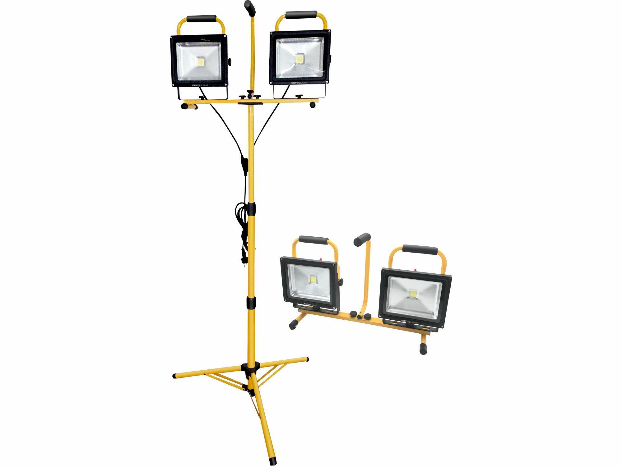 Reflektor LED, 2x2400lm, se stojanem 168cm EXTOL LIGHT