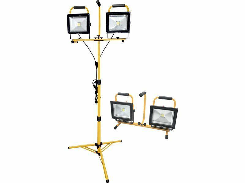 Reflektor LED, 2x2400lm, se stojanem 168cm EXTOL LIGHT 43283