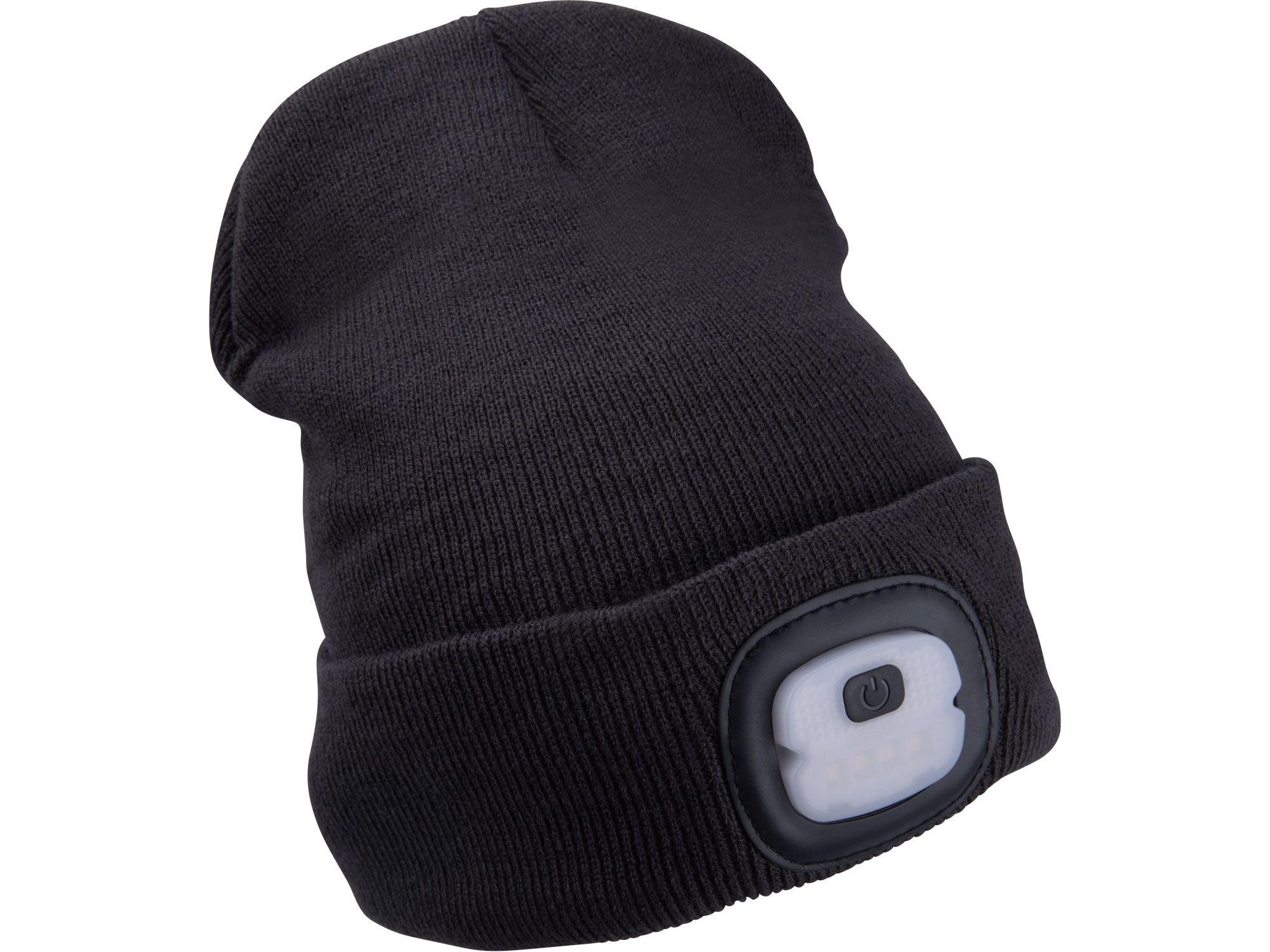 Čepice s čelovkou 4x25lm, USB nabíjení, tmavě šedá, ECONOMY, univerzální velikost EXTOL-LIGHT