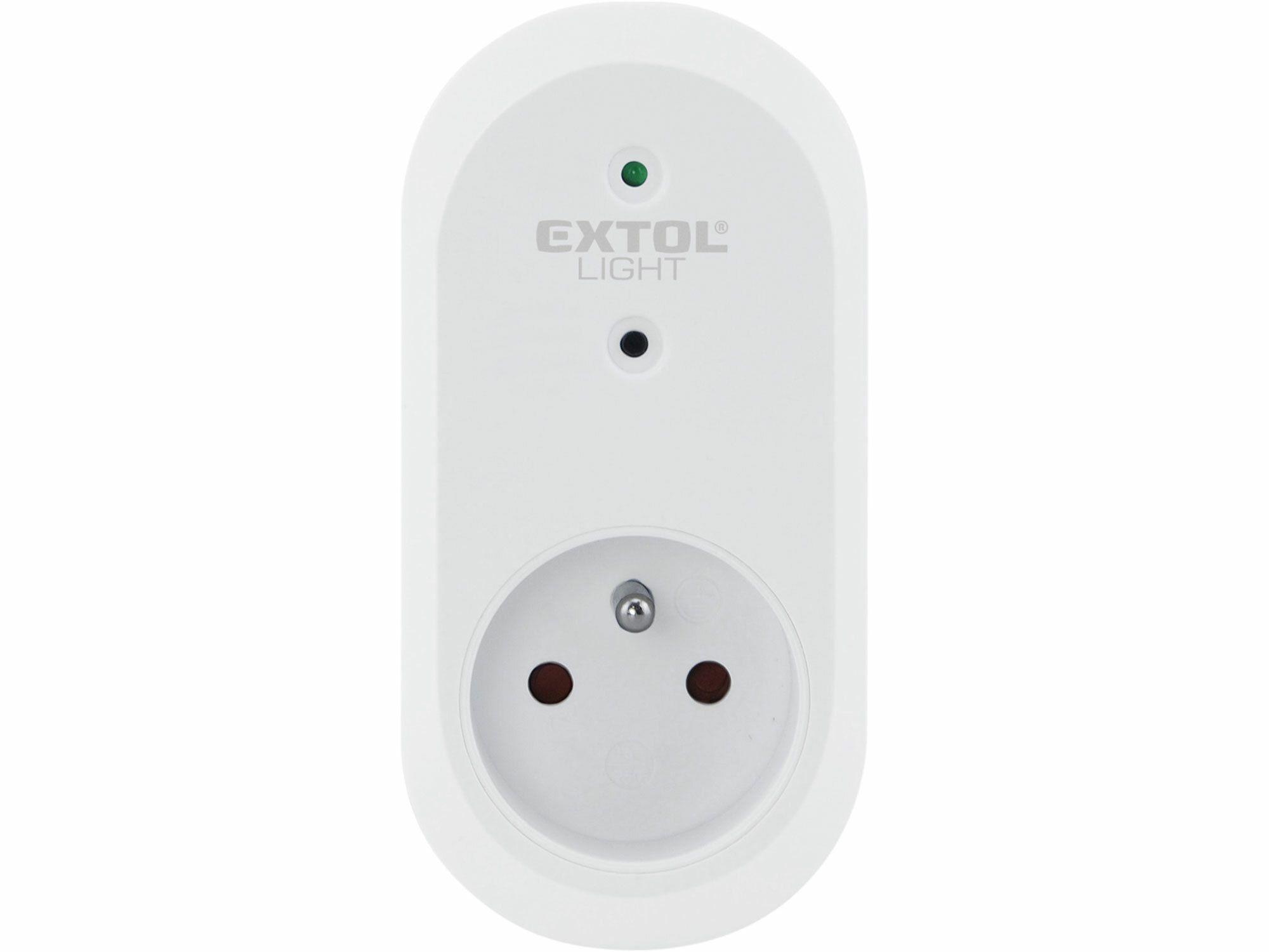 Zásuvka na dálkové ovládání, 2ks, dosah 30m EXTOL-LIGHT