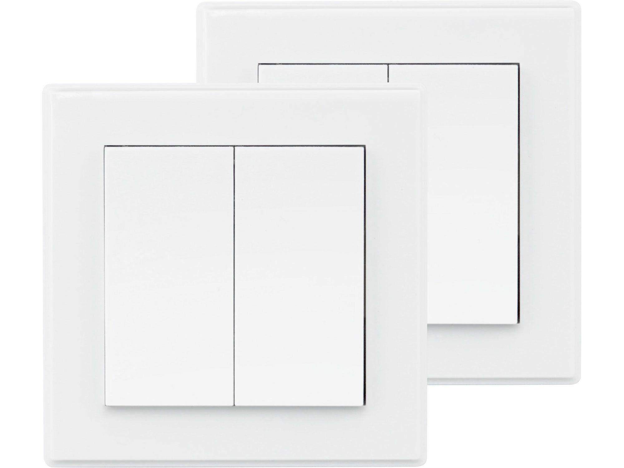 Vypínač/ovladač, dvojitý, 2ks, 2jednotlivé/skupinové kanály, EXTOL LIGHT