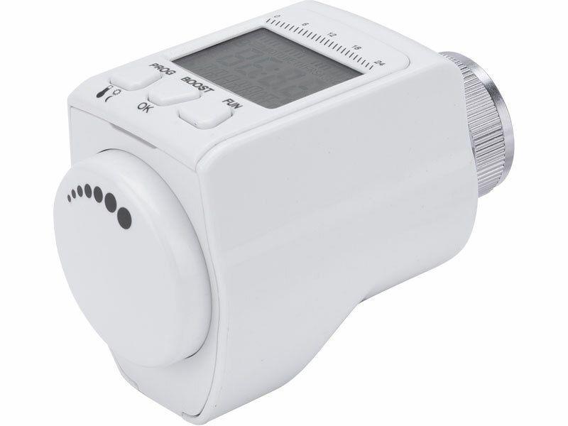 Hlavice termostatická pro radiátor, programovatelná EXTOL-LIGHT