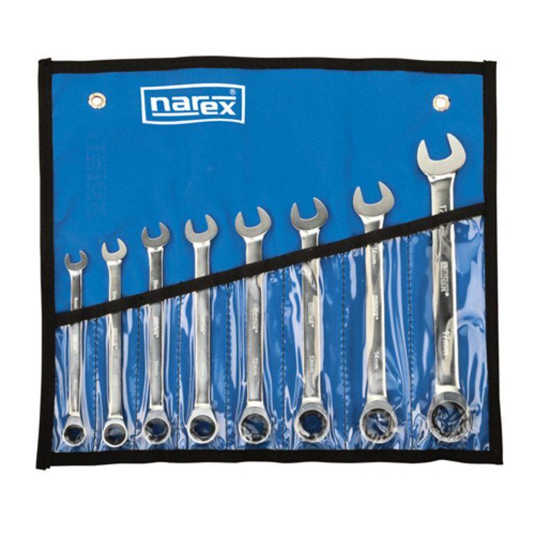 Sada ráčnových klíčů 8dílná, vinyl DIN3113, NAREX 443000594