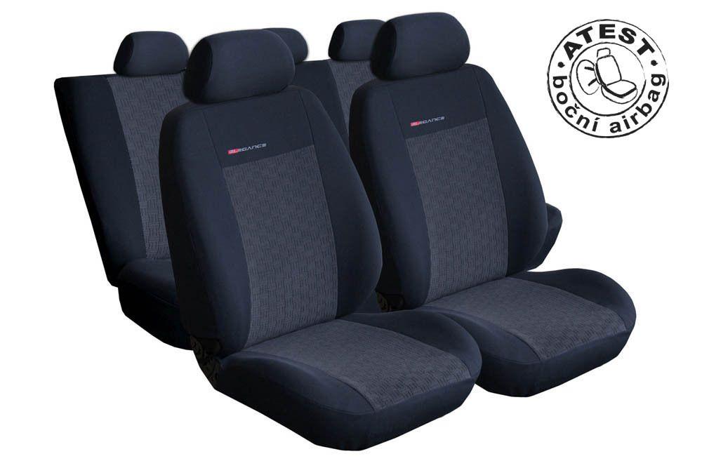 Autopotahy Seat Ibiza IV, DĚLENÁ, od r. 2008, antracit SIXTOL