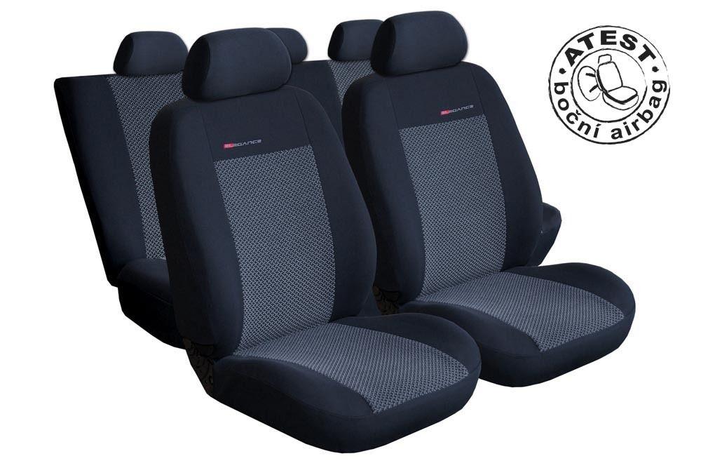 Autopotahy Seat Ibiza IV, DĚLENÁ, od r. 2008, šedo černé SIXTOL