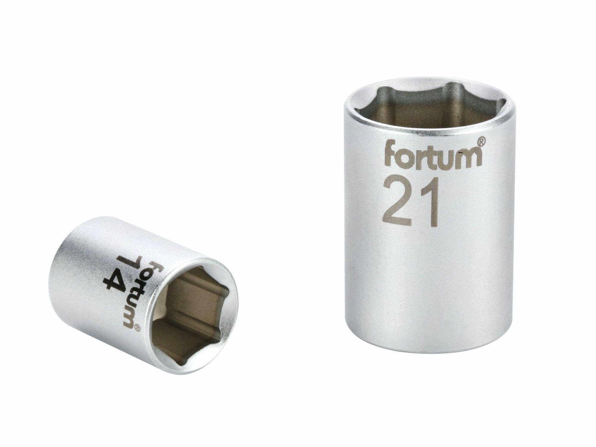 """Hlavice nástrčná, 1/2"""", 21mm, L 38mm, 61CrV5 FORTUM"""