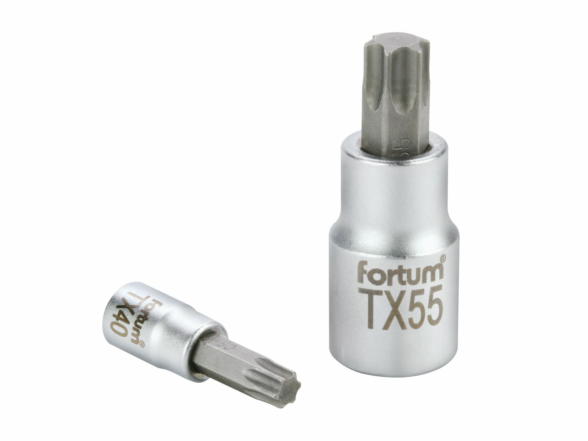 "Hlavice zástrčná TORX, 1/2"", TX 20, L 55mm, CrV/S2 FORTUM"