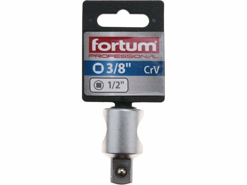 """Adaptér, 3/8"""" F - 1/2"""" M, čtyřhran vnitřní 3/8""""- vnější 1/2"""", 61CrV5 FORTUM"""