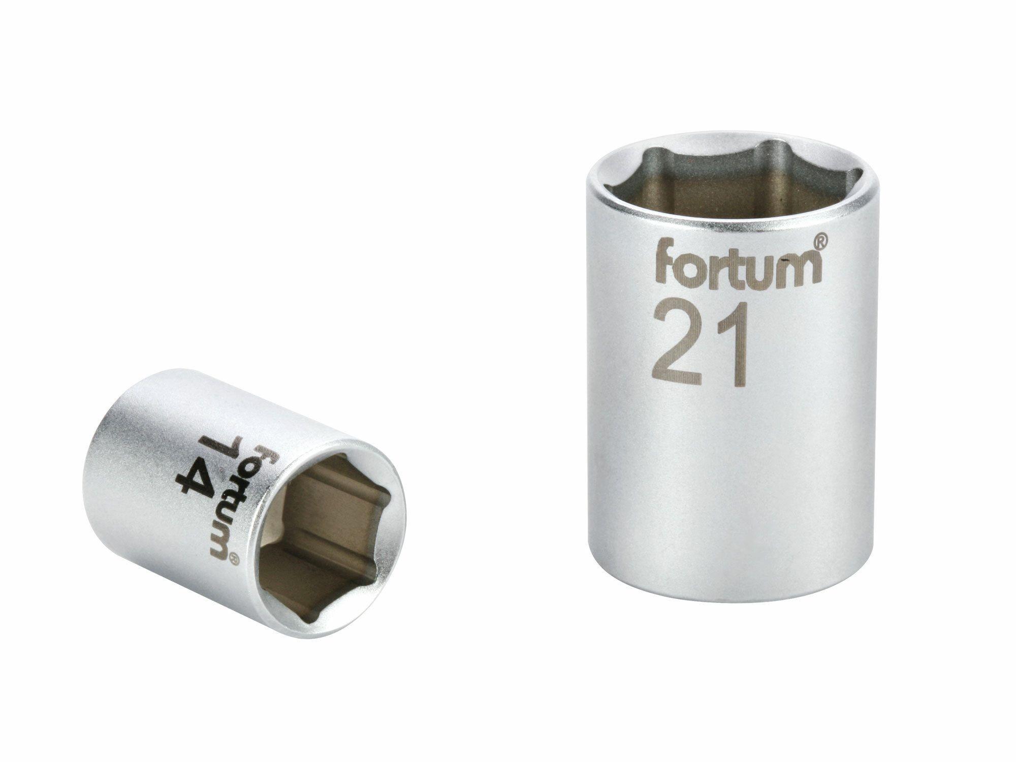 """Hlavice nástrčná, 1/4"""", 10mm, L 25mm, 61CrV FORTUM"""