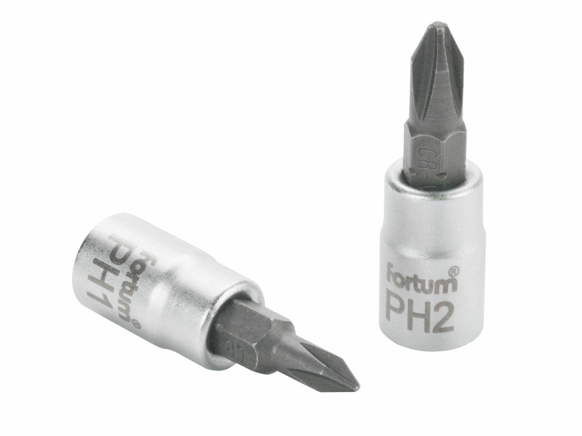 """Hlavice zástrčná šroubovák PH, 1/4"""", PH 3, L 37mm, CrV/S2 FORTUM"""