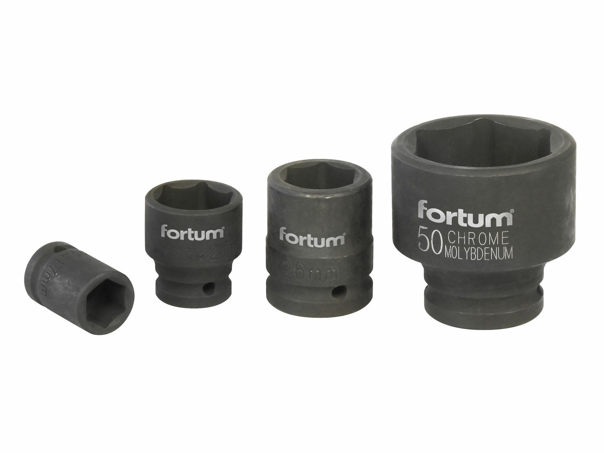"""Hlavice nástrčná rázová, 3/4"""", 50mm, L 68mm, CrMoV, FORTUM"""