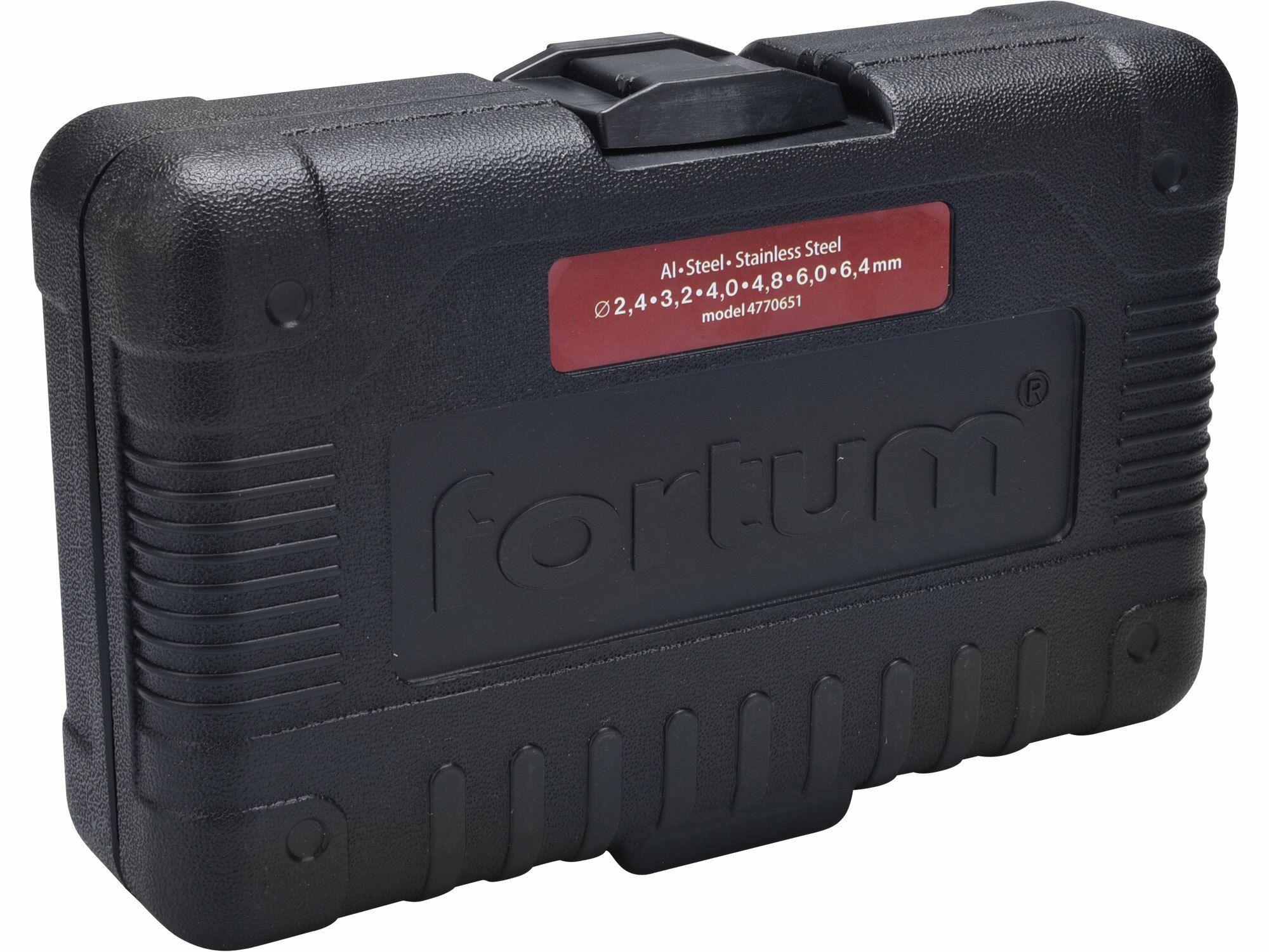 Nástavec nýtovací na vrtačku, pro trhací nýty 2,4-6,4mm, CrMo, FORTUM