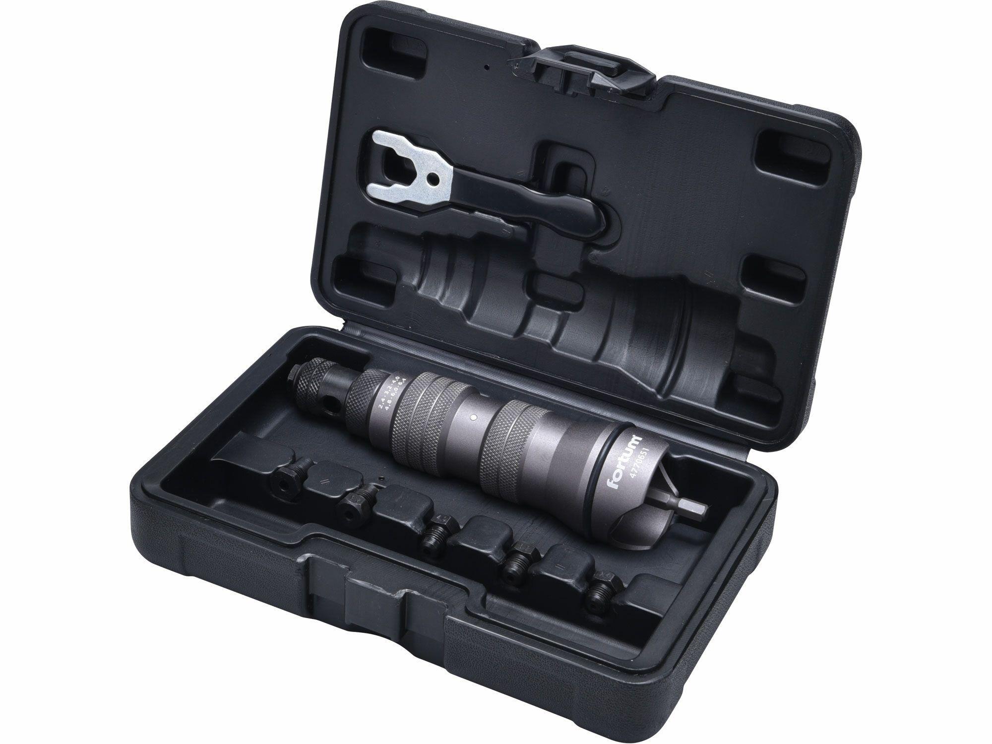 Nástavec nýtovací na vrtačku, pro trhací nýty 2,4-6,4mm, CrMo FORTUM